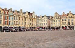 Arrasmarktplatz in Frankreich Stockbild