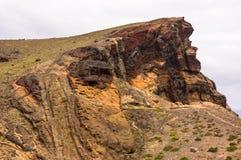 Arraste à extremidade do Sao Lourenco da península em Madeira imagens de stock