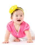 Arrastramiento asiático del bebé Fotos de archivo