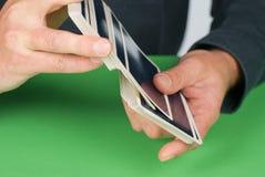 Arrastramiento de tarjetas Imagen de archivo