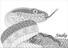 Arrastre en el estilo del zenart, dibujo blanco y negro, garabato, differen stock de ilustración