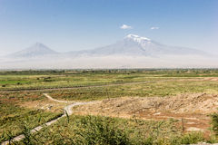 Ararat. Arrate holy mountain visible from Armenia Royalty Free Stock Images
