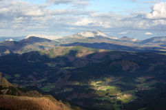 Arratia valley in basque country with some villages Royalty Free Stock Images