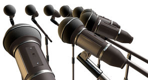 Microphones and Stands Array Stock Photos