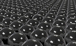 Array of Black Spheres Stock Images