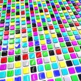 Array color blocks Stock Photos