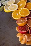 Colorful and Juicy Citrus Fruit royalty free stock photo