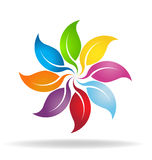 Colorful leaves logo Stock Images