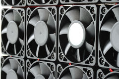 Array of CPU coller fans Royalty Free Stock Image