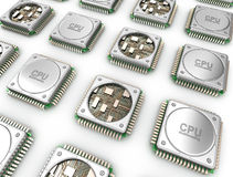 Array of CPU's . Central processor units Stock Images