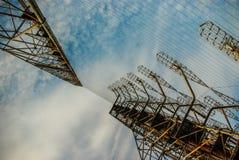 Array di antenne DUGA di Overhorizon nella zona di Cernobyl Fotografia Stock Libera da Diritti