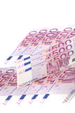 Array of Euro notes Royalty Free Stock Photos