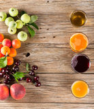 Array of fresh fruit juices Stock Photography