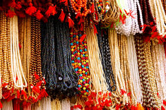 Array of Hanging Necklace Royalty Free Stock Photo