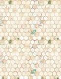 An array of hexagons stock photo