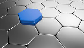 Array of hexagons  Royalty Free Stock Images