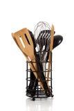 An array of kitchen utensils on white Royalty Free Stock Photo