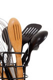 An array of kitchen utensils on white Stock Photo