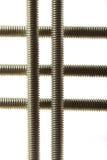 Array of long screws Stock Photo
