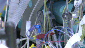 Array of medical tubes and wires. An array of medical tubes and wires stock footage
