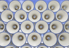 Megaphone field Royalty Free Stock Image