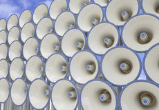 Megaphone field Royalty Free Stock Photos