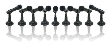 Array of Microphones Stock Photos
