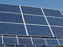 Array of photovoltaic panels. South Bohemia stock photo