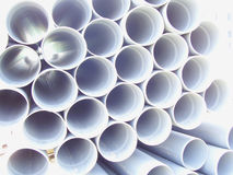 Array of Pipes. Array of plastic pipes for building industry royalty free stock image