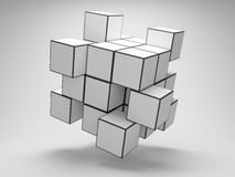 Array puzzle from cubes Royalty Free Stock Image