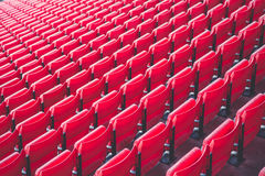 Array of red chairs