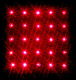 Array of red semiconductor lasers isolated on black Royalty Free Stock Photo
