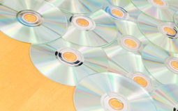 Array of Scattered Music CD-R's Royalty Free Stock Image