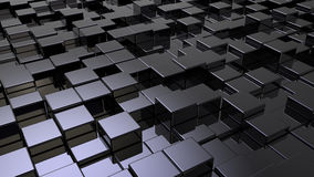 Array of shinny cubes Stock Photos