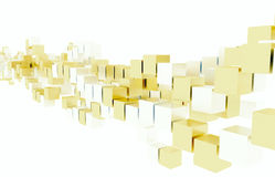 Silver and Gold Cubes Stock Images