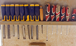 Array of tools Stock Photography