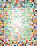 Array of triangles in a variety of colors  Stock Images