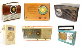 Array of Vintage Radios Royalty Free Stock Photography