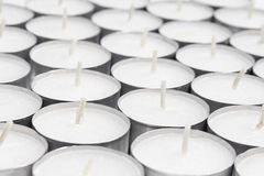 Array from white candles Royalty Free Stock Photography