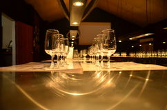 Array of Wine Glass. Found in the vineyard in Hunter Valley Royalty Free Stock Photography