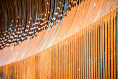 Arrayed metal fence curved  forms Royalty Free Stock Photos