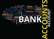 Arrays Of Bank Accounts Word Cloud Concept Royalty Free Stock Photo
