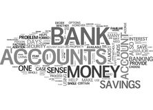 Arrays Of Bank Accounts Word Cloud Royalty Free Stock Images
