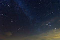 Arrebato 2016 de la lluvia de meteoritos de Perseid Foto de archivo libre de regalías