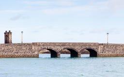 Arrecife γέφυρα στο ισπανικό νησί Lanzarote Στοκ Φωτογραφία