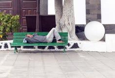 ARRECIFE, ΙΣΠΑΝΙΑ - 3 ΑΠΡΙΛΊΟΥ: άτομο Στοκ φωτογραφίες με δικαίωμα ελεύθερης χρήσης