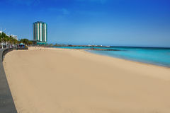 Arrecife beach Playa del Reducto in Lanzarote. At Canary Islands Royalty Free Stock Image