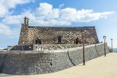 Arrecife and Castle of San Gabriel, Lanzarote, Canary Islands, S Stock Image