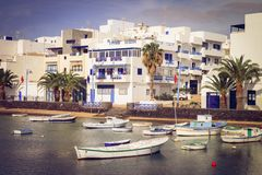 Arrecife, Charco DE San Gines jachthaven. Lanzarote. Royalty-vrije Stock Foto