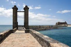 arrecife de bolasów Lanzarote lasów puente Zdjęcia Royalty Free